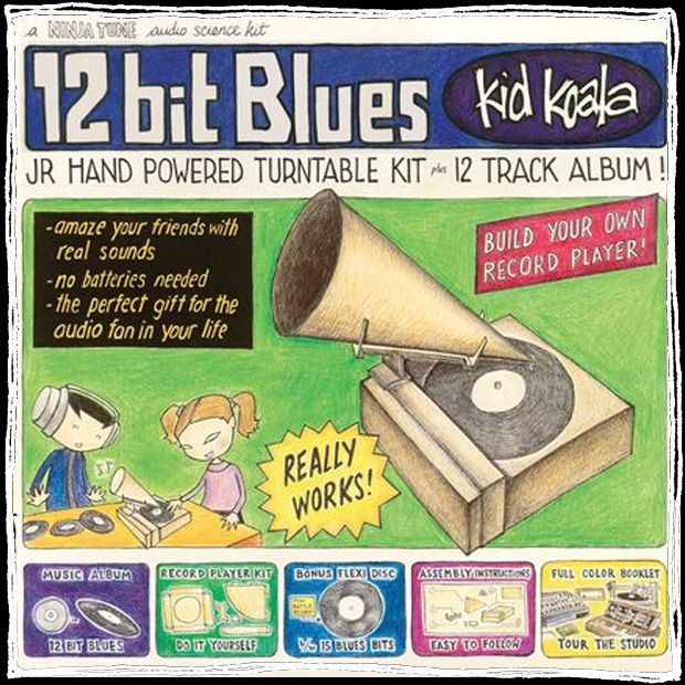 12 Bit Blues Latest Kid Koala Album Includes Paper Record Player Kit Blues Music Music Streaming Album