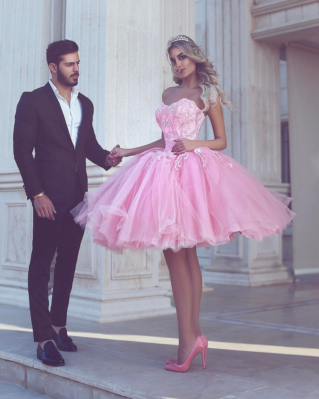 Arabic Short Prom Dresses 2017 Sexy   Rosa, Pantalones cortos y ...