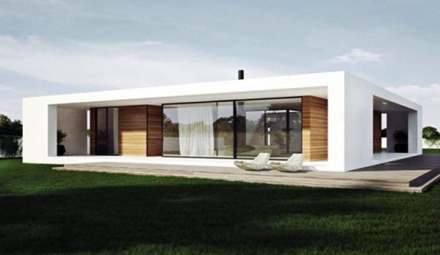 Casa estilo minimalista prefabricada y/o construcción tradicional ...