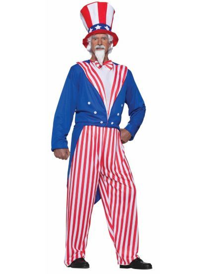 Uncle Sam Costume Adult Patriotic 4th of July