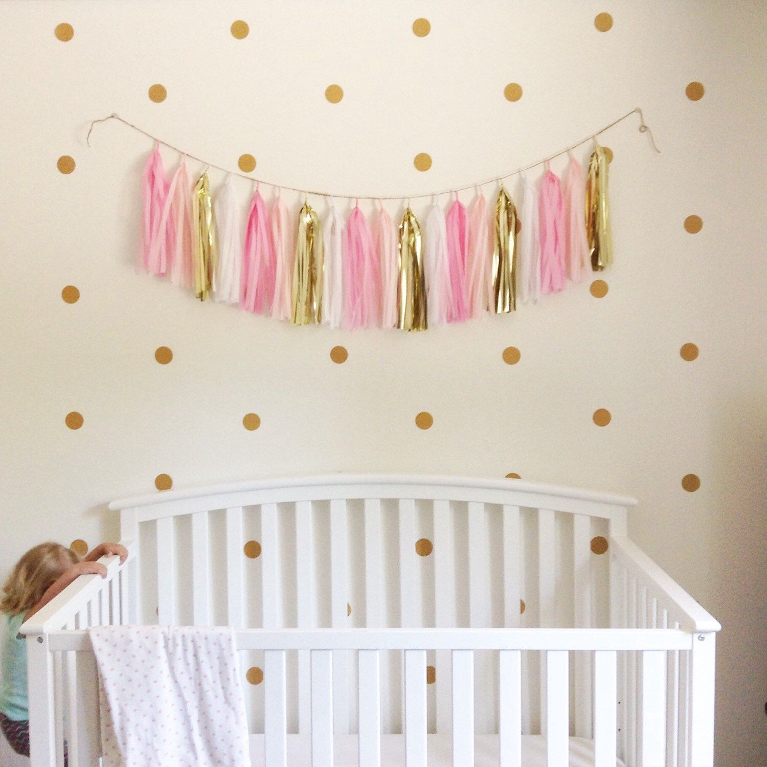 Polka dot wall decals gold glitter circle decals set of 60 2 polka dot wall decals gold glitter circle decals set of 60 2 inch stickers circle wall stickers amipublicfo Images