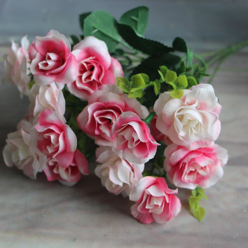 Keythemelife artificial flowers silk flower 15 buds 1 bouquet fall cheap rose fake buy quality leaves wedding directly from china artificial flowers silk flower suppliers keythemelife artificial flowers silk flower 15 mightylinksfo