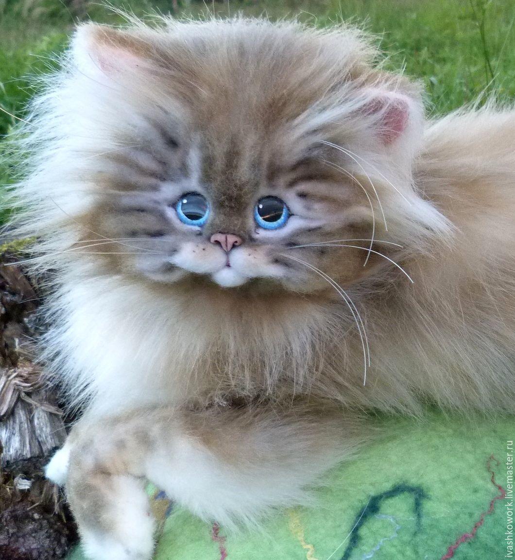 Купить Пушистая кошка Пуша) - кот игрушка, коты и кошки ...