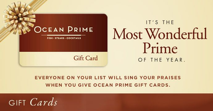 It's the Most Wonderful Prime of the year! Now through the holidays, receive a $25 bonus card for every $100 you spend!