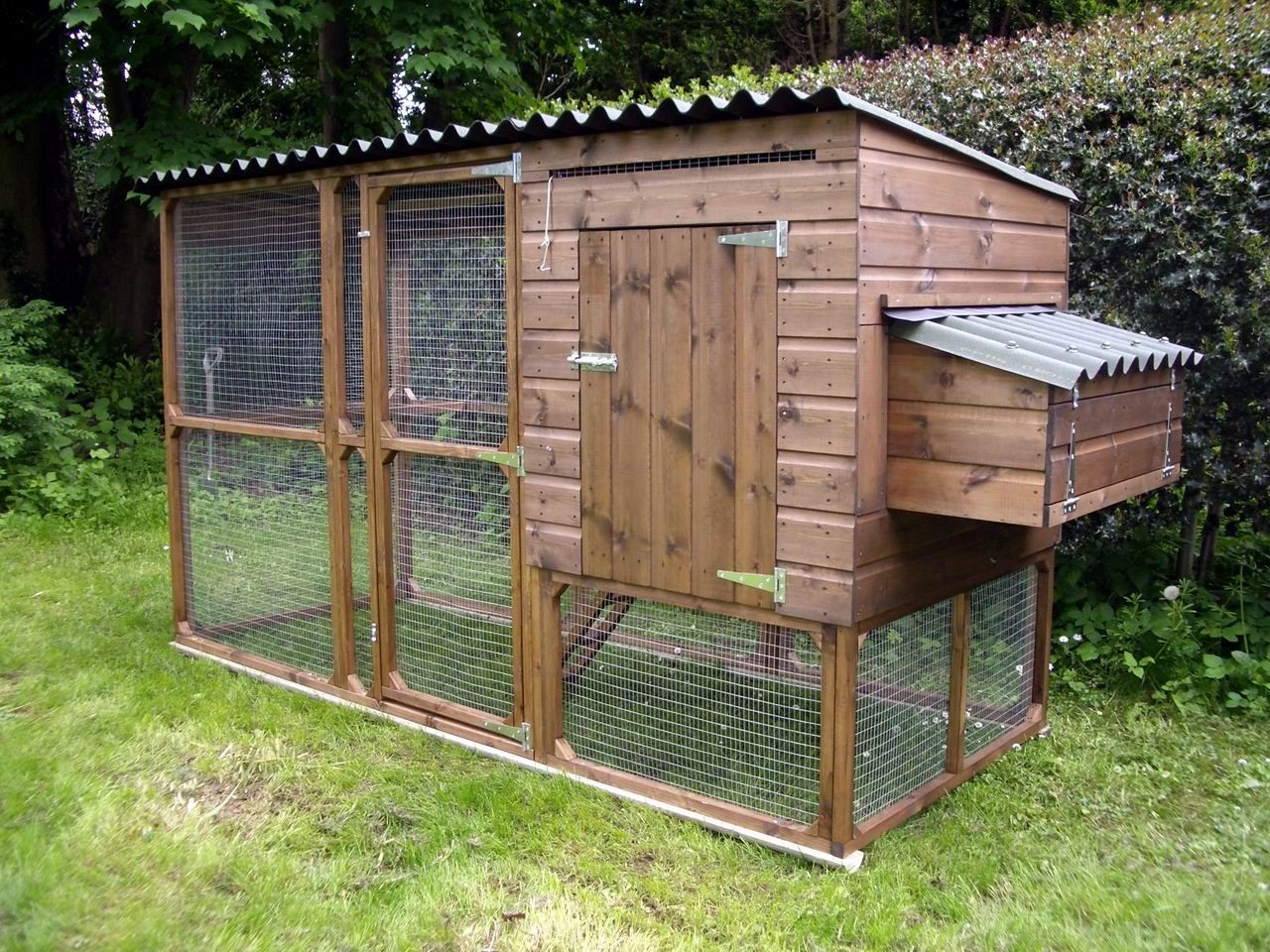 Easy build walk in chicken run plans chicken coops for Poultry house plans for 100 chickens