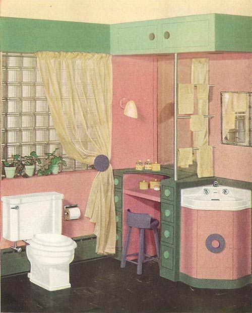 Photo of 24 pages of vintage bathroom design ideas from Crane – 1949 catalog – Retro Renovation