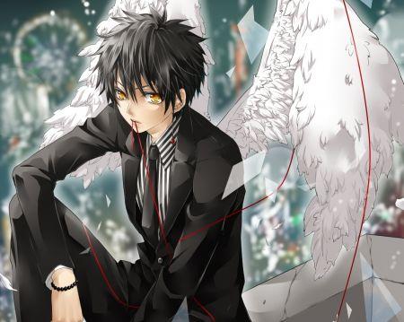 Angel Boy Desktop Nexus Wallpapers Anime Angel Anime Guys Shirtless Anime Guy Blue Hair