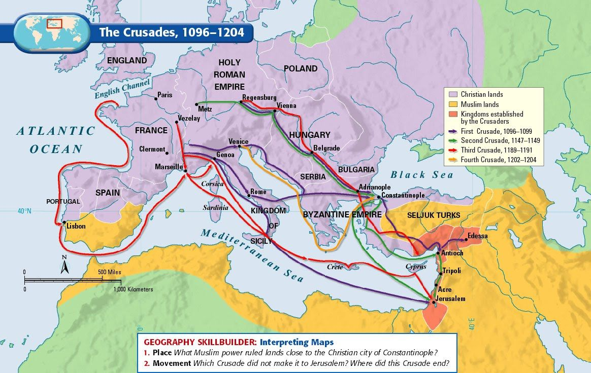 A map assignment the crusades mr brunkens online classroom a map assignment the crusades mr brunkens online classroom mystery of historyhistory gumiabroncs Gallery