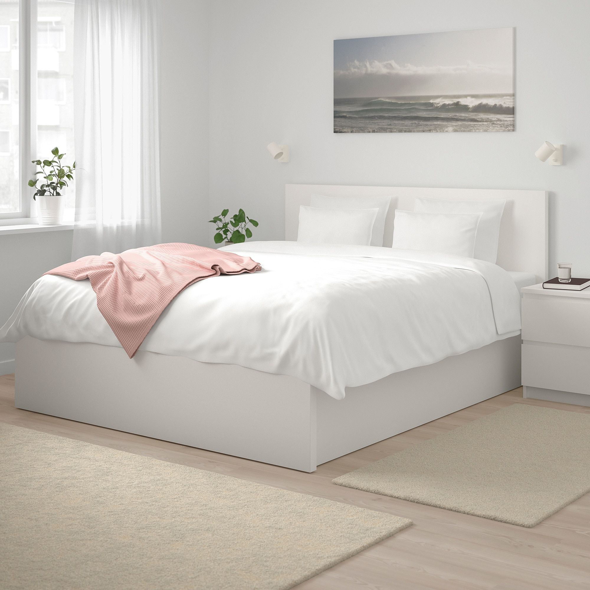 Malm Pull Up Storage Bed White Queen White Bed Frame Malm Bed