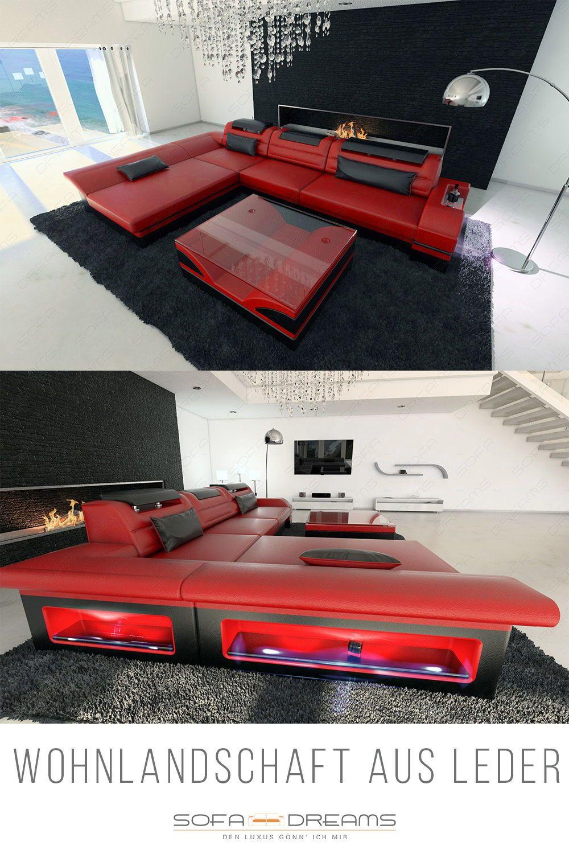 Ecksofa Monza Ledersofa  Luxus wohnzimmer, Xxl möbel