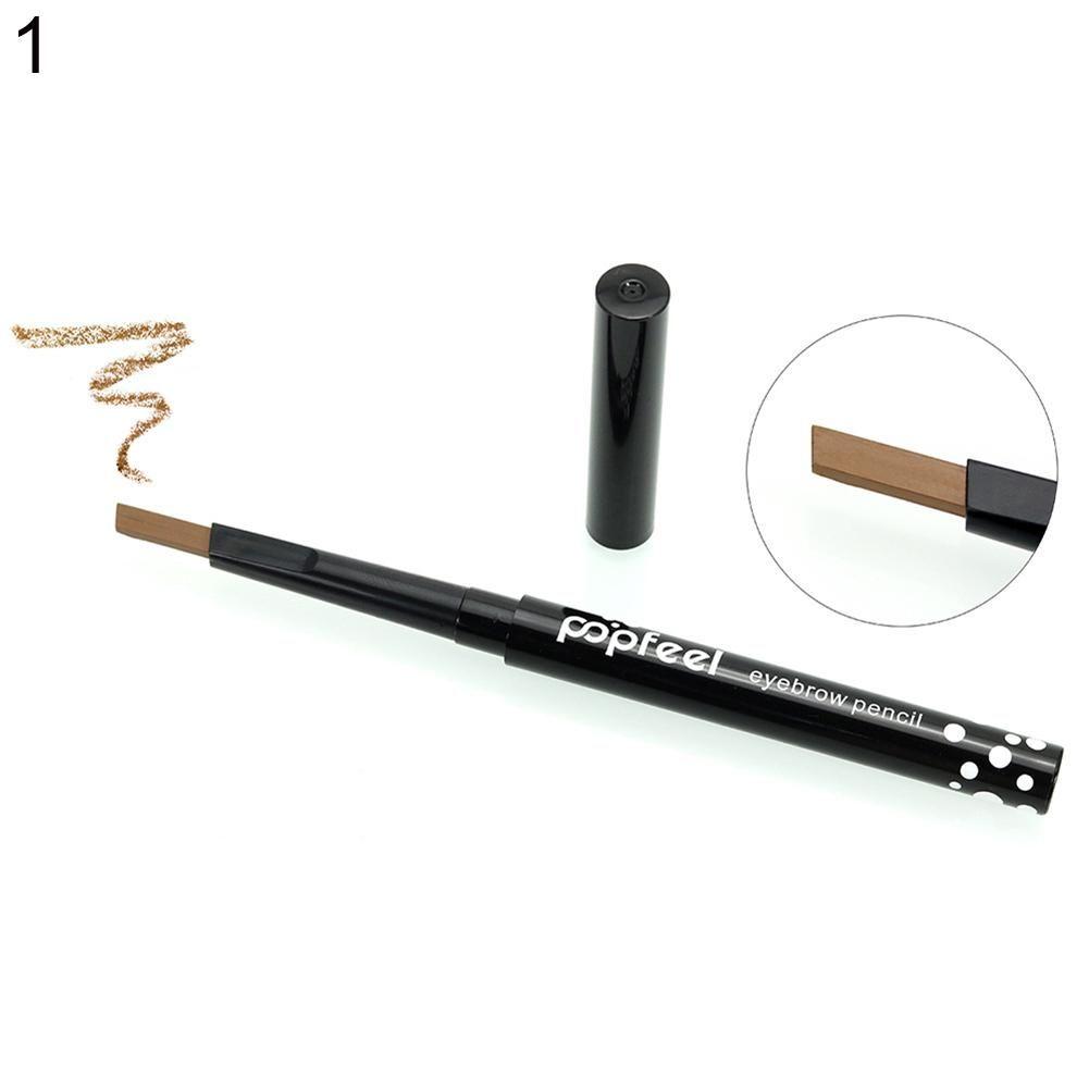 Langlebiger, nicht verschmierter Augenbrauenstift Augenbrauenstift Make-up Beauty Cosmetic Tool – Schwarz + Creme