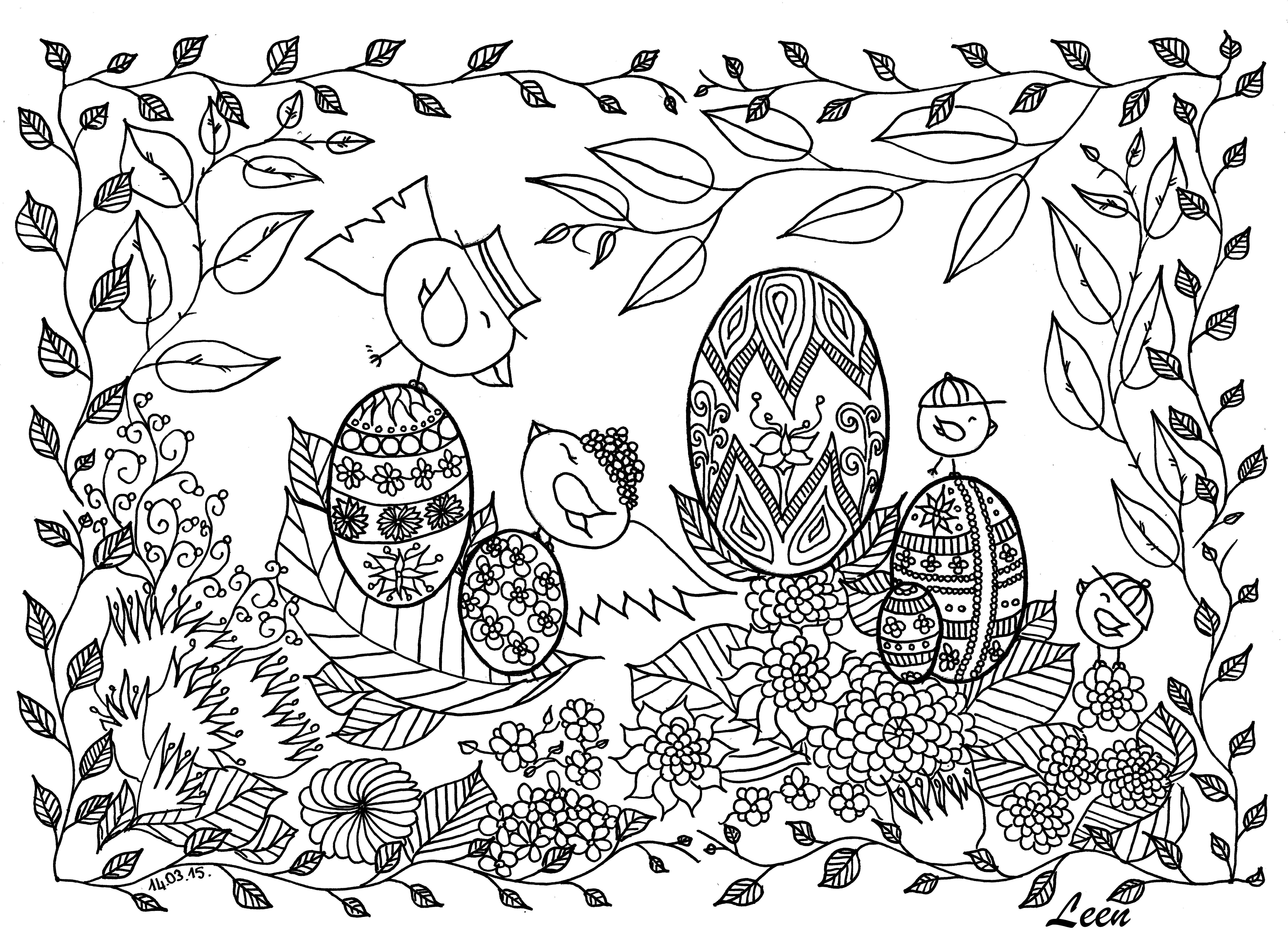 Free coloring page coloringeggsbyleenmargot. Coloring