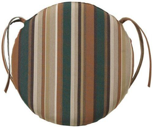 18d All weather Round Chair Cushion 2Hx18D RUSTIC STRIPE by