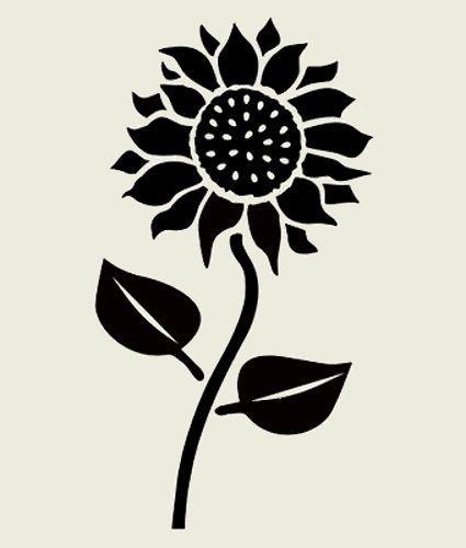 8 SUNFLOWER STENCIL FLOWERS LEAVES STENCILS FLOWER LEAF CRAFT TEMPLATE ART NEW