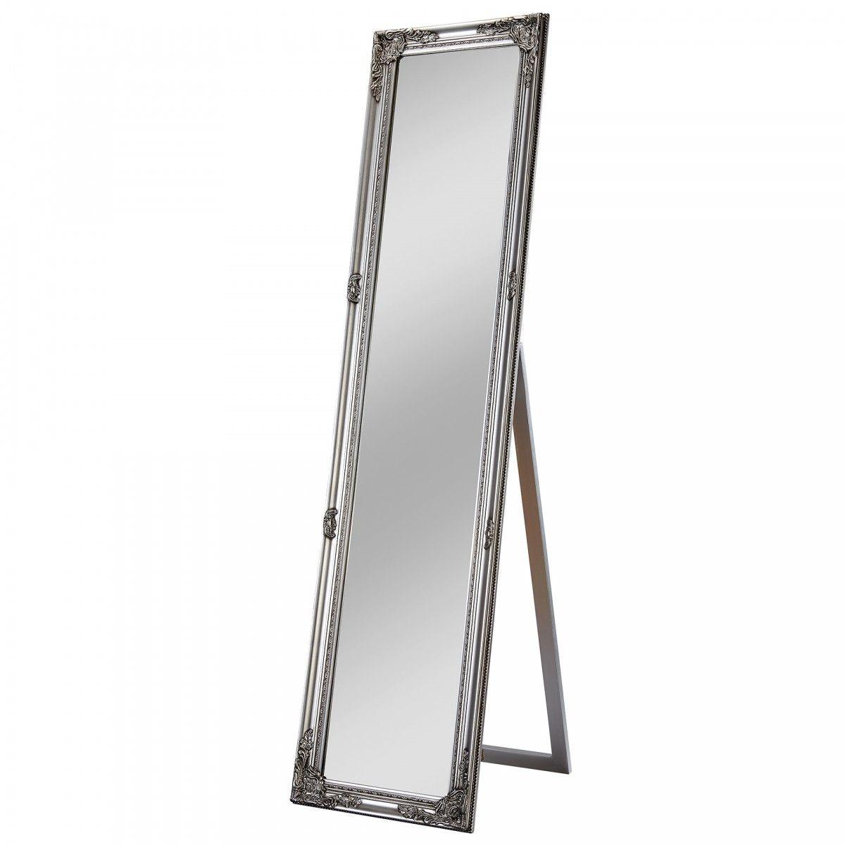Standspiegel Vrangstrup 40x160 Silber Standspiegel Spiegel Schmuckschrank