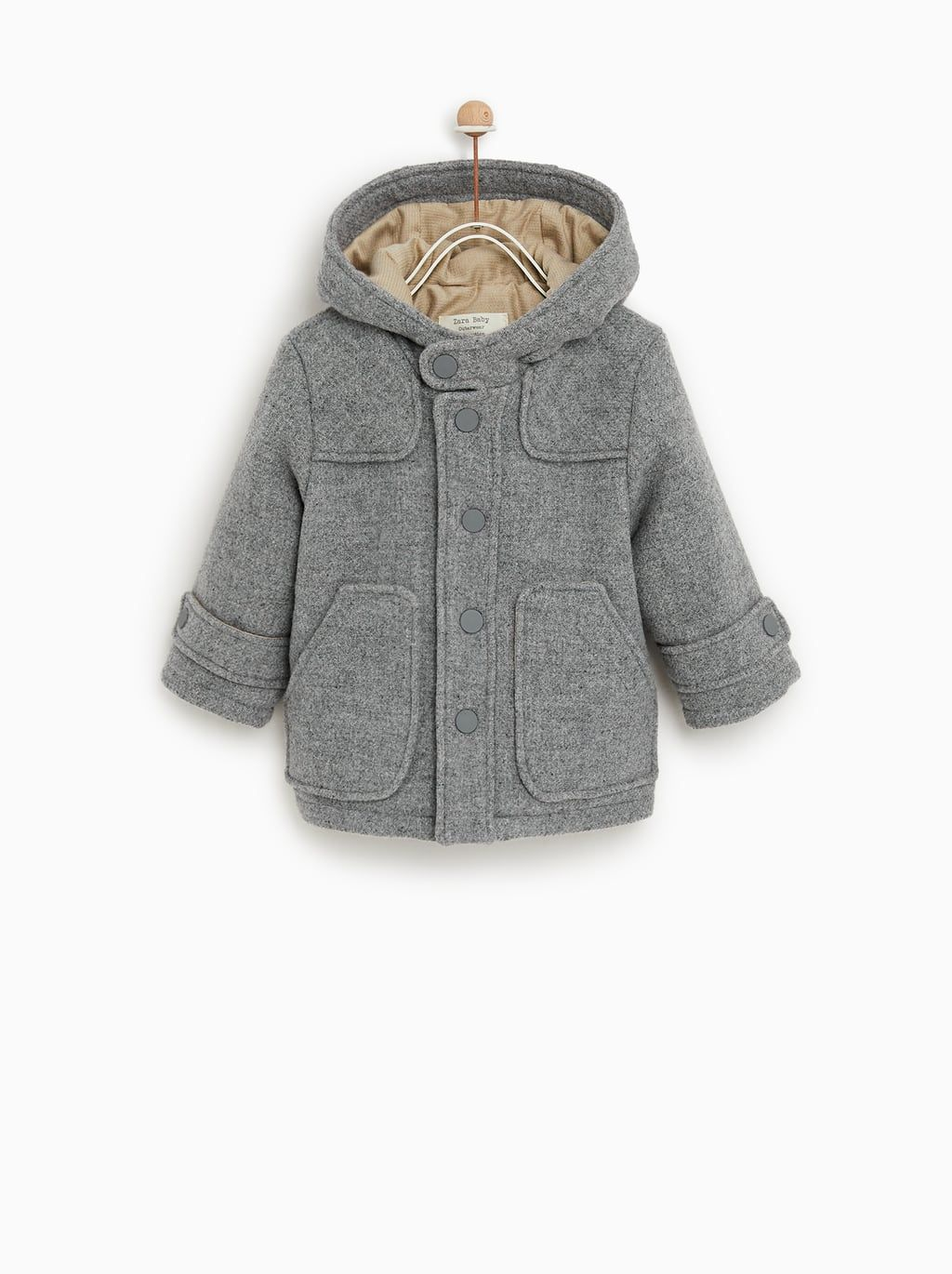 a11bfa36 Image 1 of WOOL DUFFEL COAT from Zara | •baby girl: clothes | Kids ...