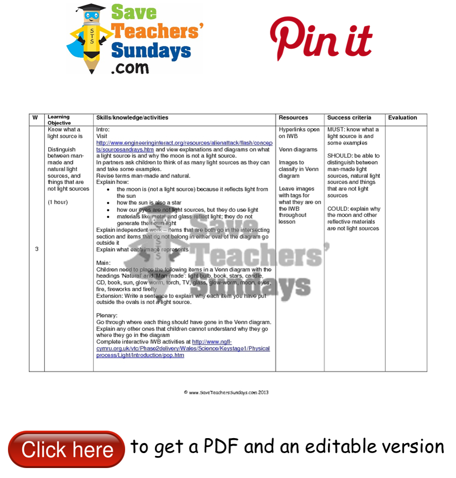 Workbooks worksheets on light and shadows : Pin by SaveTeachersSundays.com - Primary teaching resources on ...