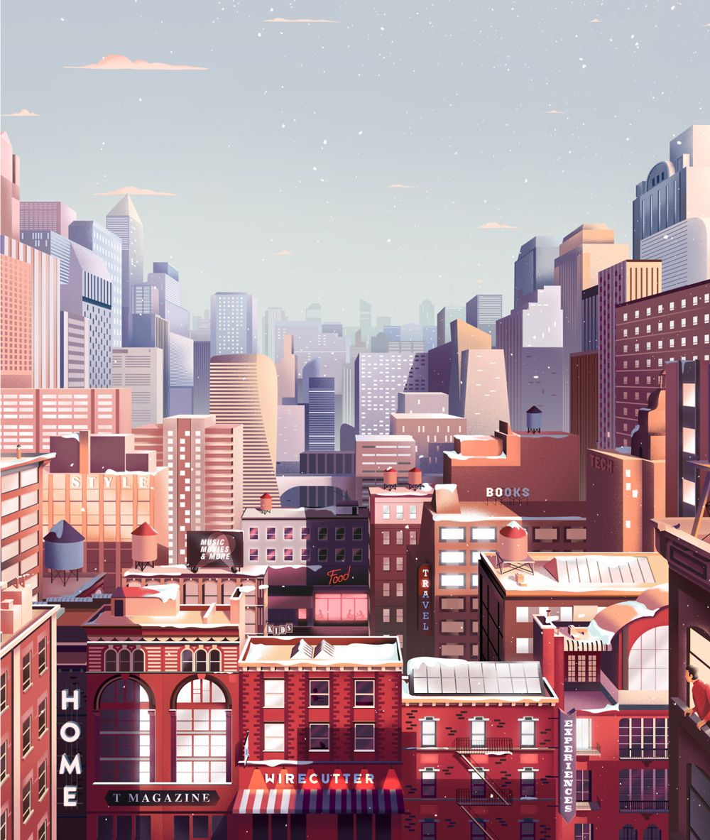 New York Times Animation Gift Guide Parallel Studio In 2021 City Illustration Building Illustration Animated Gift