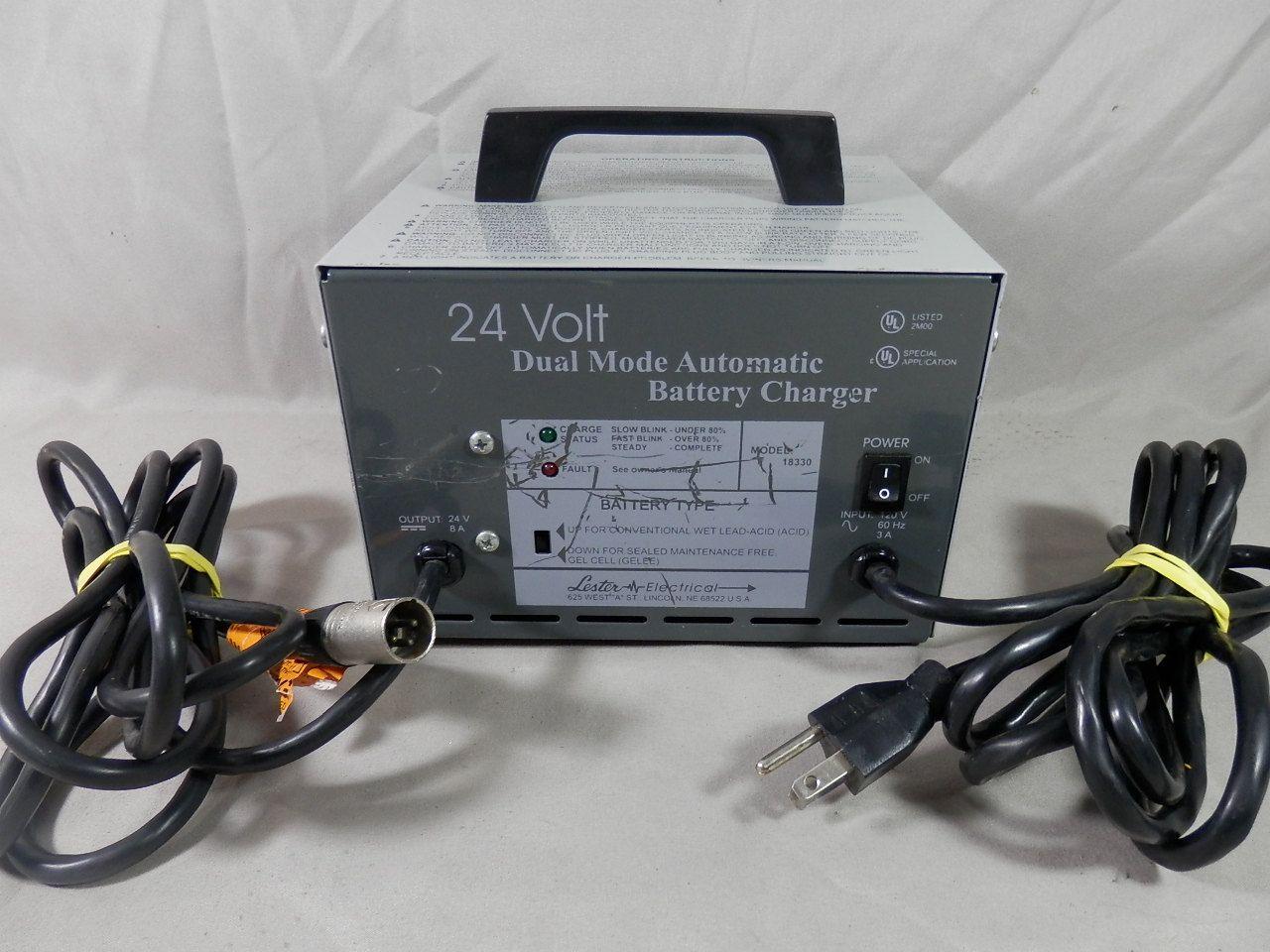 Vintage Lester Electrical 24 Volt Dual Mode Automatic Battery
