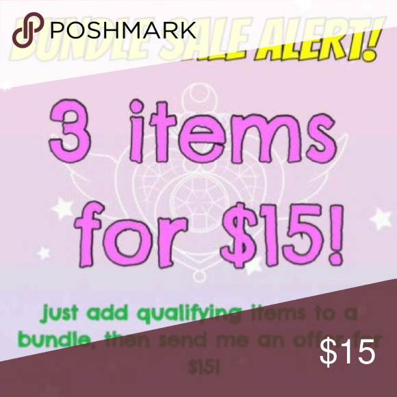 All items $10 and under are 3$15 All items $10 and under