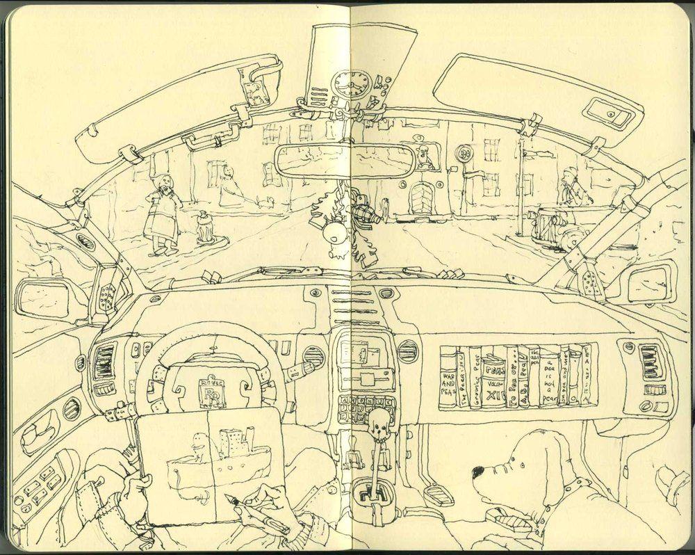 Sketching while driving by mattiasa on deviantart coloring