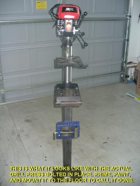 Project Diy Drill Press Stand The Garage Journal Board