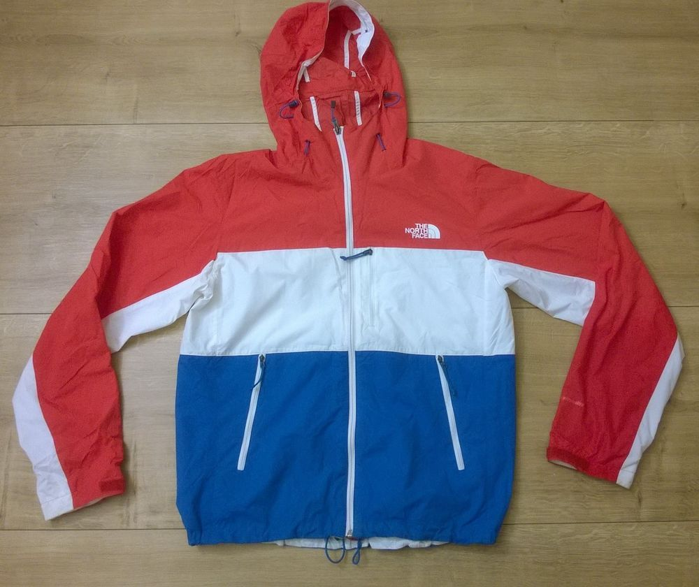 The North Face Men Hydrenalite Jacket Windstoper Coat Hooded S P Red White Blue Thenorthface Otherjackets North Face Mens Face Men Jackets [ 840 x 1000 Pixel ]