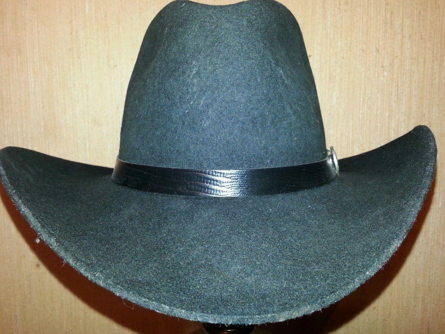 79401a0232a0d Dale Earnhardt Sr. Signature Series Black Stetson Cowboy Hat - Size 7.25