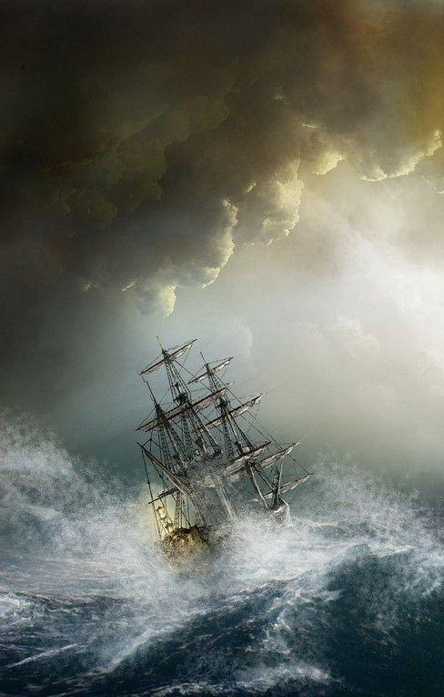 veliero tempesta