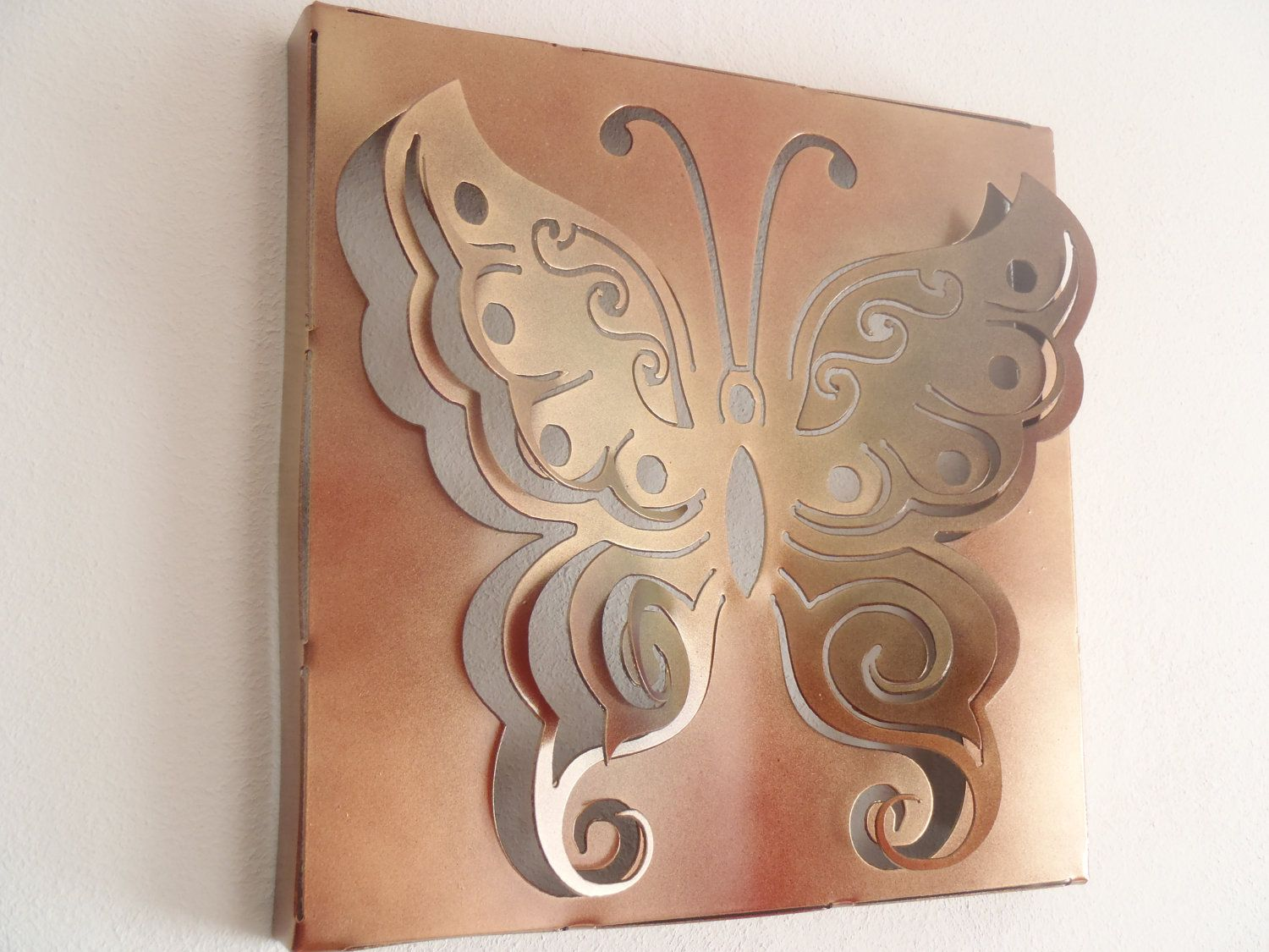 Butterfly wall decor metal art by tibi on etsy