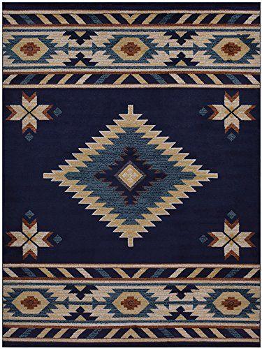 Nevita Collection Southwestern Native American Design Area Rug