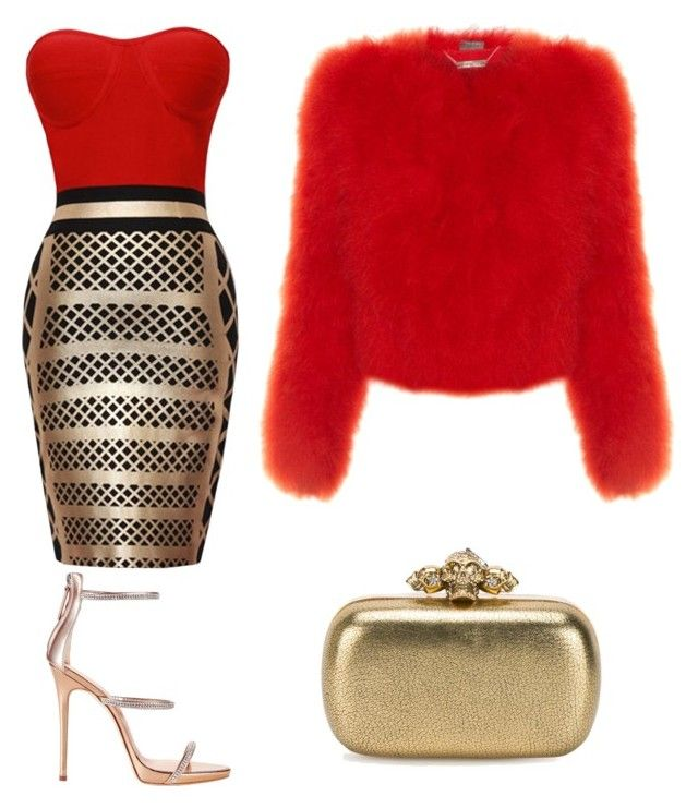 """♡"" by iojikxamiak on Polyvore featuring Giuseppe Zanotti and Alexander McQueen"