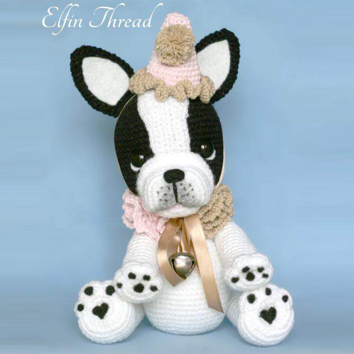 Gaspard the french bulldog amigurumi pattern by Elfin Thread | Tiere ...