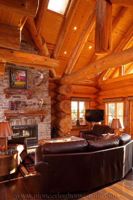 View Our Picture Gallery Of Log Home Living Room U0026 Loft Designs. These  Areas Are