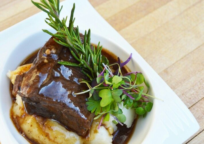 Braised Beef Short Rib With Port Wine Demi Glace Food Catering Beef Short Ribs