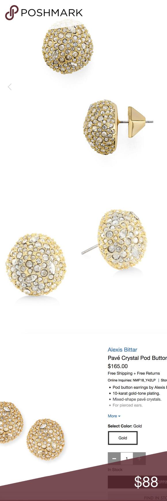 Alexis Bittar Pavé Crystal Pod Button Earrings Z7qFmIlmSV