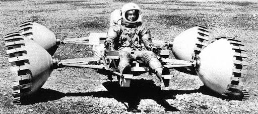 The Lunar Sortie Vehicle (LSV), a North American Rockwell proposal from 1971