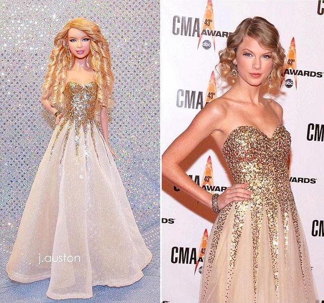 Taylor Swift 2009 CMAs OOAK Doll by j.auston, via Flickr