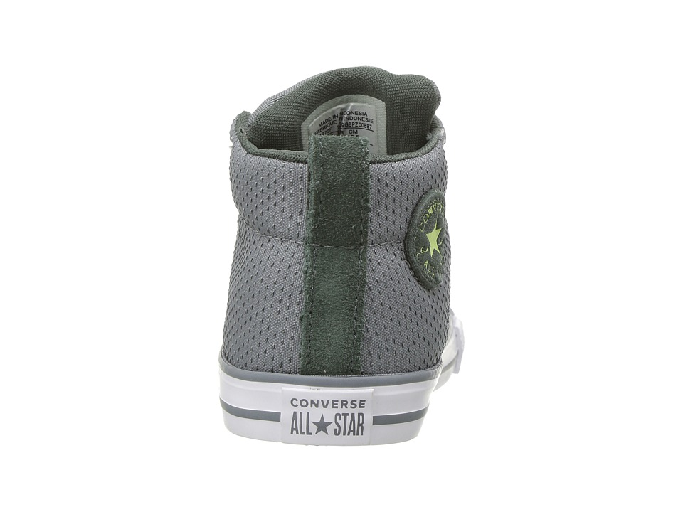 64127cc3762db7 Converse Kids Chuck Taylor(r) All Star(r) Street Mid (Infant Toddler) Boy s  Shoes Cool Grey Vintage Green White