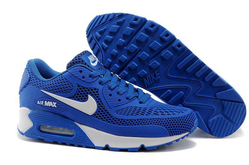 2014 Newest Nike Air Max 90 Royal Blue White Mens Shoes