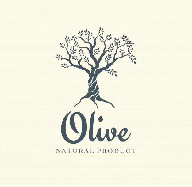 Olive Tree Vector Logo Design Template For Oil Vector Logo Design Logo Design Template Vector Logo