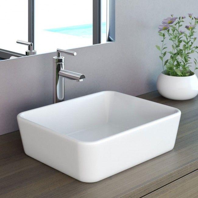 Neg Waschbecken Uno32a Eckig Aufsatz Waschschale Waschtisch Mit