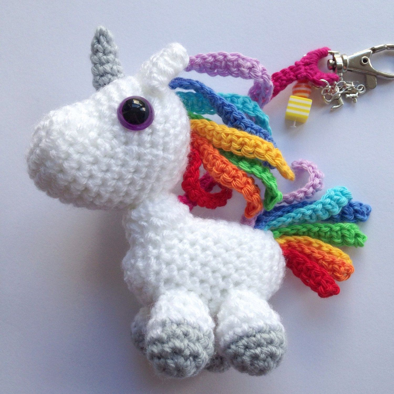 Lazy Rainbow Unicorn Amigurumi Pattern & Kit – Tiny Rabbit Hole by ... | 1500x1500