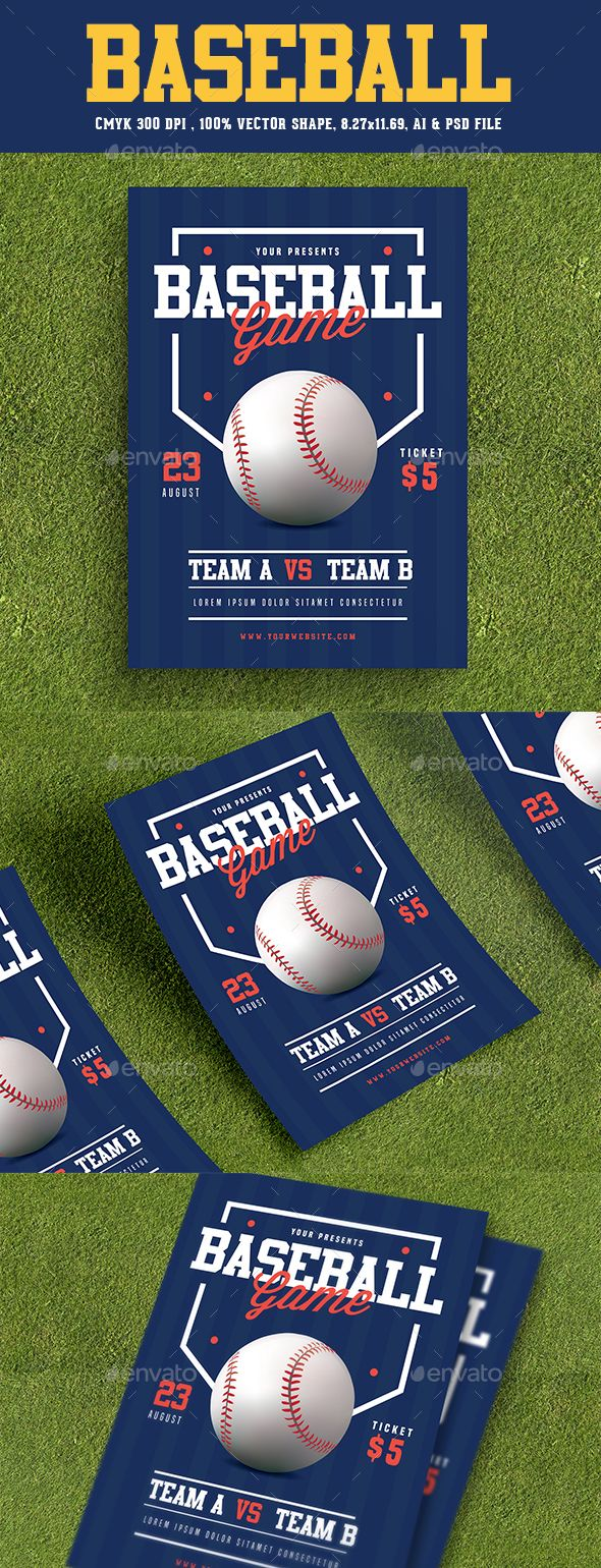 Baseball Flyer  Flyer Template Template And Wisdom Script