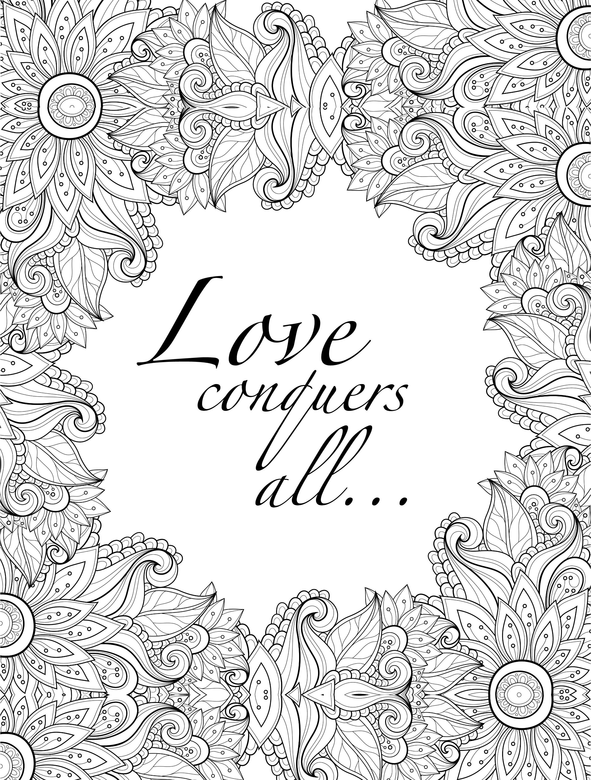 Free printable coloring pages for grown ups - 20 Free Printable Valentines Adult Coloring Pages