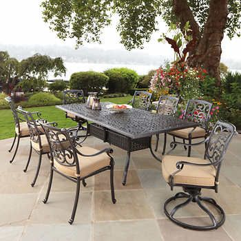 Veranda Classics Emzy 9 Piece Dining Set Costco Outdoor