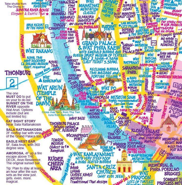 Bangkok Map Bangkok Bangkok Karte Carte De Bangkok Mapa De
