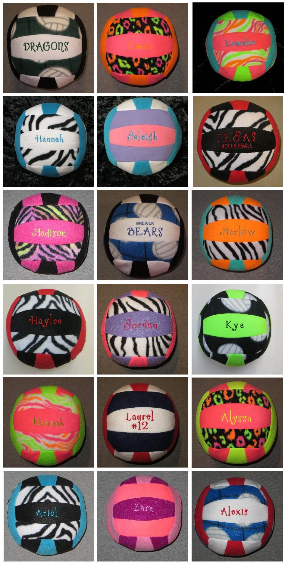 Embroidered Plush Volleyball Etsy Volleyball Tips Volleyball Crafts Volleyball