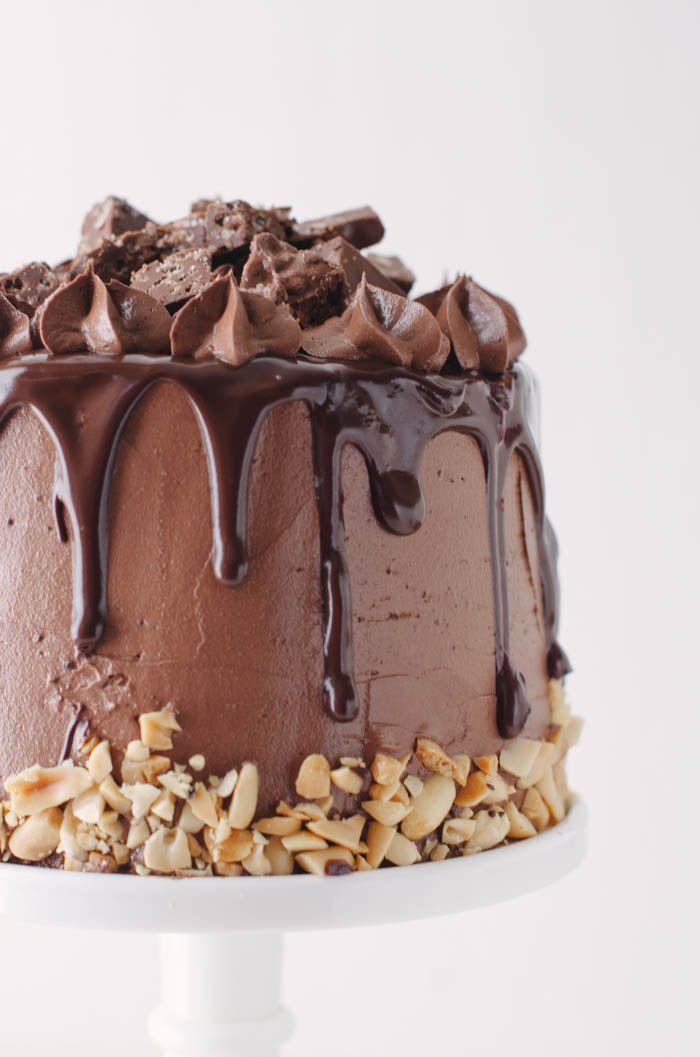 crack layer brownie cake C O C O A l i c i o u s Pinterest