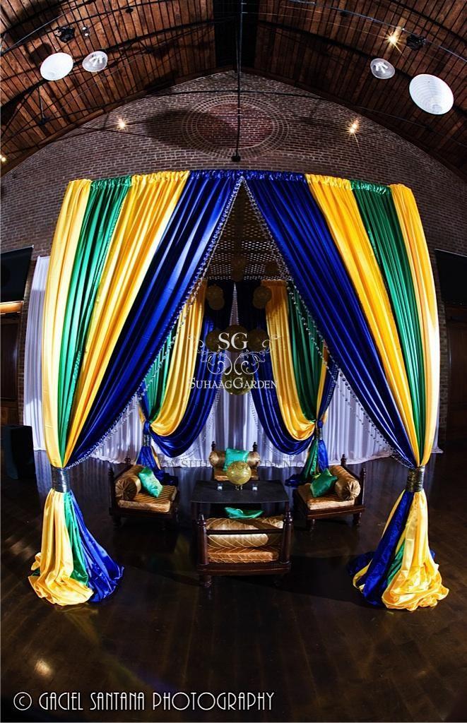 suhaag garden florida wedding decor and design vendor disco balls chinese lanterns - Green Canopy Decoration